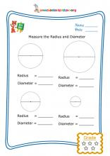 Measure the radius and diameter