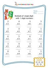 Multiple of single digit with 1-digit numbers