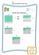 Write the fraction