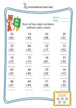 Sum of two digit numbers without carry overs