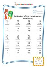 Subtraction of two 2-digit numbers without carry